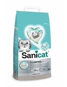 SANICAT CLUMPING WHITE 10 LT